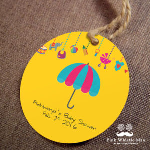 Baby Shower Umbrella Thank you Tags
