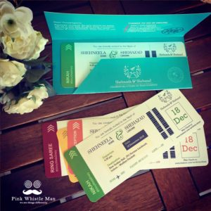 Boarding Card Invite