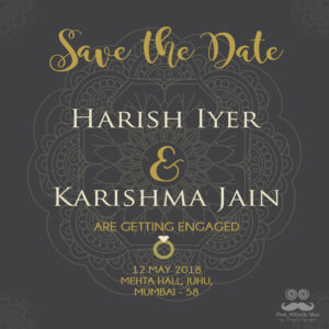 Save The Date - Mandala Print