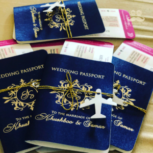 Wedding passport invitation