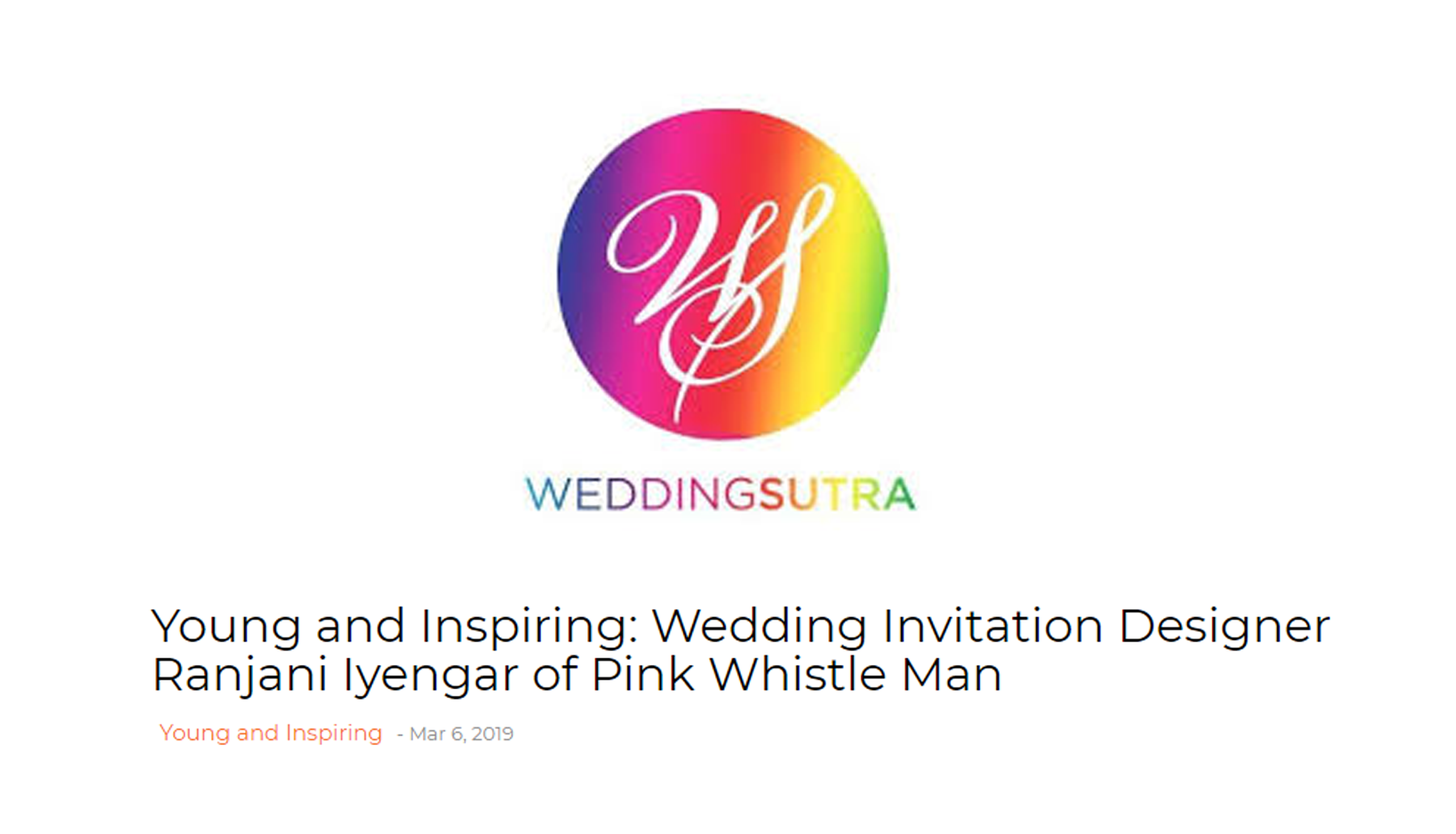 Young And Inspiring - Wedding Sutra